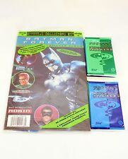 C1995 Batman Forever Sticker Album + 11 Packs of Stickers by Topps Lot #01