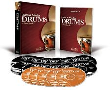 Learn and Master Drums 12 DVDs 5 CDs BOOK NEW Package - Instruction  000321117