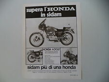 advertising Pubblicità 1976 SIDAM e MOTO HONDA CB 400 SS FOUR