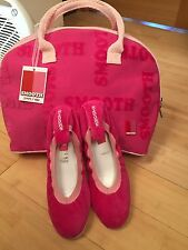 Smooth Fuchsia And Pink Pump Shoes Size UK 5 And Matching Bag