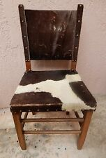 Vintage Antique Chair Cowhide With Hair Hand Crafted Southwest Style Rustic
