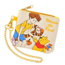 Winnie the Pooh Walk Canvas ID Card Pass Coin Case ❤ Disney Store Japan