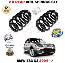 FOR BMW E83 X3 + XDRIVE 4x4 2004-  NEW 2 X REAR LEFT + RIGHT COIL SPRINGS SET
