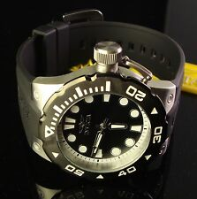 NEW MENS INVICTA LARGE 51 MM DIAL PRO DIVER BLACK DIAL & BEZEL-BLACK POLY BAND