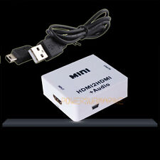 MINI HD HDMI to HDMI AUDIO HDMI 2 HDMI+Video Converter Decoder Adapter USB cable
