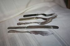 lot of Anrique Silver plated Flatware Rogers & Bro Master Butter Knife and more