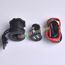 12-24V USB Motorcycle Car Cigarette Lighter Socket Charger Adattatore di