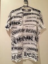Authentique chrome hearts x comme des GARCONS t-shirt blanc