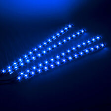 Outdoor HOT 15LED 30CM 4x BLUE Waterproof Car Lighting Flexible Strip Light Lamp