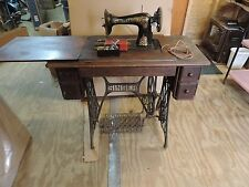 Antique Singer Treadle Sewing Machine Model 15  Tiffany 1915 Cabinet
