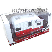 GREENLIGHT SHASTA 15' AIRFLYTE CAMPER TRAILER 1/24 RED CHASE GREEN MACHINE 1