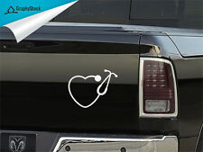 Stethoscope Heart Car Decal Vinyl Sticker Car Boat Window Nurse Doctor Hospital