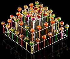 YEST Clear Acrylic Cake Pop Stand Square 9 Rods