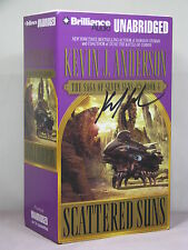 signed by author,Seven Suns Saga 4:Scattered Suns by Kevin J Anderson,unabridged