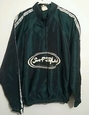 Vintage Surf Style Interplanetary Green Windbreaker  Jacket 80s 90s Retro