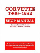 1966-1982 Chevrolet Corvette Shop Repair Service Manual 1981 1980 1979 1978 1977