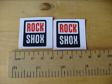 ROCK SHOX Bike / Mtb Decals Self Adhesive A Pair (t4) FREEPOST WORLDWIDE