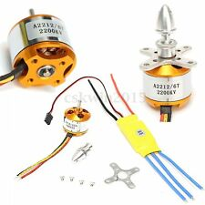 New A2200kv Brushless Motor 2212-6 +30A ESC for RC Airplane Quadcopter Helicopte