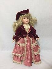 "The Collectors Choice by DanDee procelain doll 16""blond victorian style original"