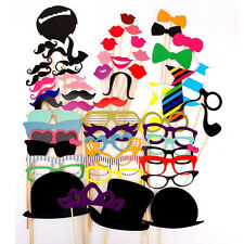 New 58x Photo Booth Party Wedding Props On Stick Masks Mustache Glasses Lips