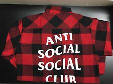 AntiSocial Social Club No Expectations Flannel button up Shirt L Yeezy Supreme