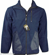 New National Geographic Mens Full-Zip Wind-Blocking Navy Fleece Jacket XL