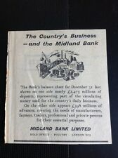 M1-2 Ephemera 1957 Advert The Country's Business And The Midland Bank
