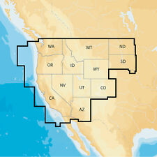 Navionics+ (Plus) Regions WEST Preloaded Chart Gold and Hotmaps SD/microSD