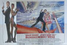 A VIEW TO A KILL - BOND 007 / SAN FRANCISCO / MOORE - RARE 8 PANELS MOVIE POSTER