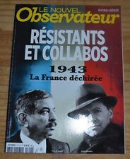 Le Nouvel Observateur HS, résistants et collabos, 1943, 2013, 98 pages