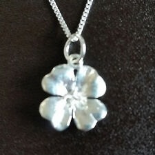 925 Sterling Silver Necklace with Flower Pendant gift uk