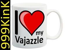 5555 I Love Heart my VAJAZZLE cup mug SECRET santa Sex gift toy Gay towie