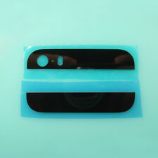 Back Top Bottom Glass Lens Screen Cover Camera Flash Housing iPhone 5S Black