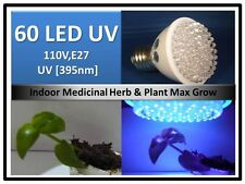 New 395Nm Herb Plant UV Max Grow 60LED  Light Bulb 110V E27 USA EngineerCertifed