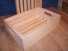 """18""""wooden crate, wood crate, slatted crate storage crate"""
