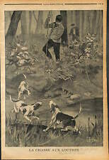 HUNTING DOG Otter CHASSE AUX LOUTRES CHIENS DE CHASSE 1902