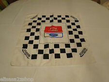 Ford Credit checkerboard Racing RACE bandanna scarf Nascar RARE collectible