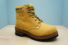 Caterpillar CAT Womens Size 3 Steel Toe Honey Leather Sequoia Work Ankle Boots
