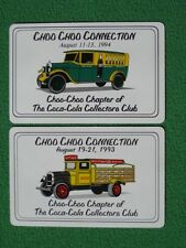 Old Coca-Cola Delivery Trucks Mint Condition Swap Cards Choo Choo Connection WOW