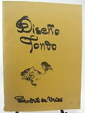DISENO TONDO by Hendrik de Vries - ART Book 1966, 70th Anniversary Drawings