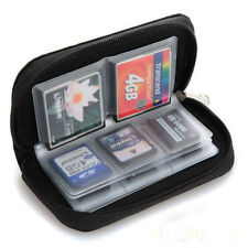 US SDHC MMC CF Micro SD Memory Card Storage Carrying Pouch Case Holder Wall