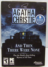 AGATHE CHRISTIE AND THEN THERE WERE NONE+ BOOK PC GAME CD SEALED IN SMALL BOX