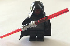 *NEW* Lego Star Wars Minifig DARTH MAUL with DUAL LIGHTSABER