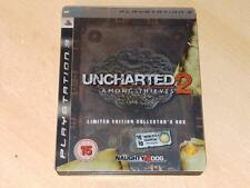 Uncharted 2 among Thieves Limitado Edición Coleccionista PS3 ** GRATIS UK FRANQUEO **