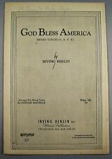 God Bless America - Arranged for Mixed Voices - Irving Berlin - 1939