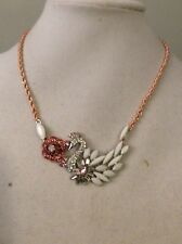 Betsey Johnson Ballerina Rose Swan Necklace $50