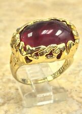 TORI SPELLING OVAL RED COLOR STONE GOLDTONE RING SIZE 7 HSN SOLD OUT