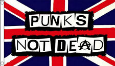 5' x 3' Punks Not Dead Flag Anarchy Union Jack Punk Chaos Festival Banner