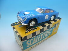 Scalextric E/3 c68 Aston Martin GT in Rare Blue, and boxed mint car