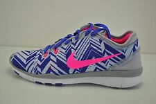 Womens Nike Free 5.0 TR FIT 5 PRT Running Shoes Size 8 White Purple 704695 005